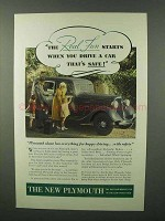 1934 Plymouth De Luxe Sedan Ad - The Real Fun Starts