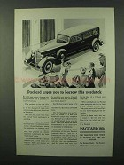 1934 Packard Car Ad - Urges You To Borrow Yardstick