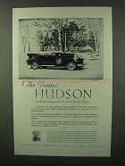 1929 Hudson Greater Hudson Car Ad - New Body Types