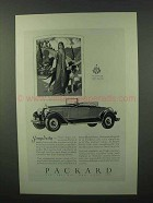 1927 Packard Cars Ad - Simplicity