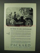 1926 Packard Cars Ad - At Home in Any Environment