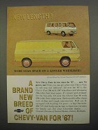 1966 Chevy Van 108 and Sportvan 108 Ad - New Length