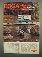 1967 Chevrolet Custom Camper Pickup Ad - Escape