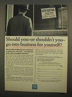 1966 New York Life Ad - Go Into Business for Yourself
