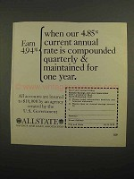 1966 Allstate Savings and Loan Association Ad - Earn