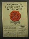 1966 Investors Diversified Services Ad - Buy Stock Fund