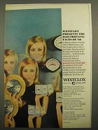 1966 Westclox Ad - Exclusive Twin-Face Electric Alarm
