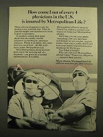 1966 Metropolitan Life Insurance Ad - 1 of 4 Physicians