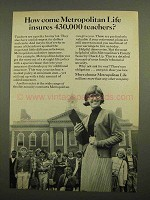 1966 Metropolitan Life Insurance Ad - 430,000 Teachers