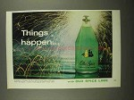 1966 Old Spice Lime Cologne Ad - Things Happen