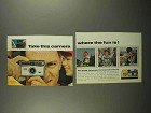 1966 Kodak Instamatic 104 Camera Ad - The Fun Is