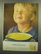 1965 Lipton Soup Ad - Look Mom! I'm Growing Already!