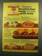 1965 Campbell's Soup Ad - Supper Sandwiches Simple