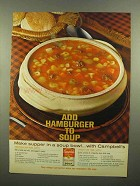1965 Campbell's Vegetable Soup Ad - Add Hamburger