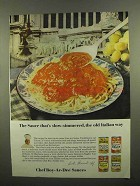 1965 Chef Boy-Ar-Dee Sauces Ad - Slow-Simmered