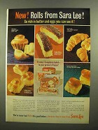 1965 Sara Lee Rolls Ad - So Rich in Butter and Eggs