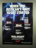 1991 Wal-Mart Champion Batteries Ad - 700, 875, Switch