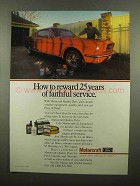 1990 Ford Motorcraft Parts Ad - Reward Faithful Service
