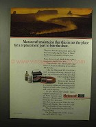 1989 Ford Motorcraft Parts Ad - Not Place to Bite Dust