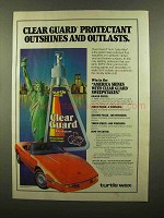 1986 Turtle Wax Clear Guard Ad - Outshines