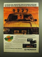 1986 Pioneer KEH-5151 Cassette Receiver Ad - Truck