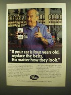 1984 Gates Engine Belts Ad - If Car is Four Years Old