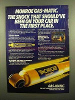 1984 Monroe Gas-Matic Shocks Ad - Should've Been