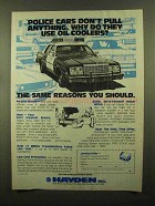 1982 Hayden Engine and Transmission Oil Coolers Ad
