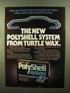 1980 Turtle Wax PolyShell System Ad - Space Age