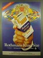 1980 Rothmans King Size Cigarettes Ad - World Leader