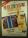1980 Peter Stuyvesant Luxury Length Cigarettes Ad