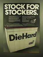1979 Sears DieHard Battery Ad - Stock for Stockers