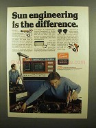 1977 Sun Testing Equipment Ad - Engineering Difference