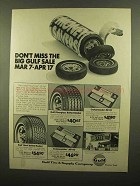 1977 Guf Tire & Battery Ad - Fiberglass Belted Radial