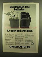 1976 Gulf Cruisemaster-MF Battery Ad - Open and Shut