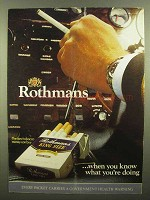 1973 Rothmans King Size Cigarettes Ad - You Know