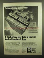 1972 Shell Superlife Battery Ad - Extraordinary