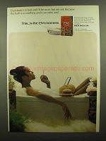 1971 L&M Cigarettes Ad - The Bath is So Soothing