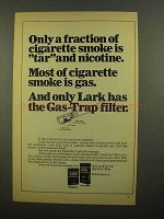 1968 Lark Cigarettes Ad - Only Fraction is Tar Nicotine