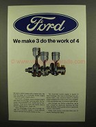 1966 Ford Motors Ad - We Make 3 Do The Work Of 4
