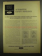 1965 Ford Motors Ad - Computers Crash Simulations