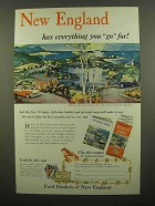 1956 Ford Motor Company Ad - New England Has