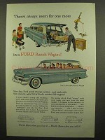 1954 Ford Customline Ranch Wagon Ad - Room For More