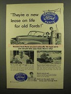 1953 Ford Parts Ad - They're a New Lease on Life