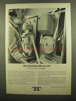 1965 Teletype Machine Ad - Data Processing While Wait