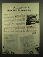 1965 Xerox Copiers Ad - How To Beat the Memo Game