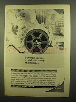 1965 Kodak Recordak Microfilm Ad - Save the Facts