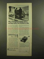 1965 Pitney-Bowes Model DM-3 Postage Meter Ad - Triumph