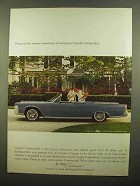 1965 Lincoln Continental Convertible Ad - Discover