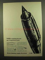 1965 Bristol Siddeley Thor Ramjet Engine Ad, Hypersonic